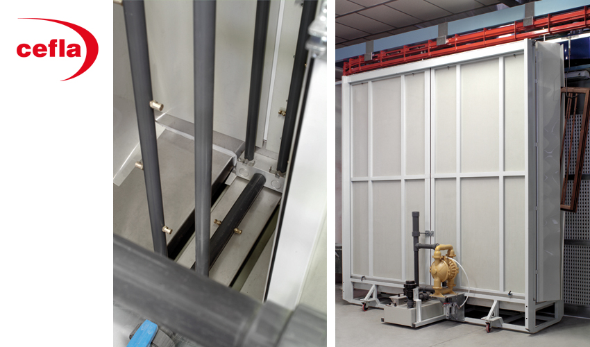 Kuva: Cefla Falcioni Flow Coating -travessilevitin